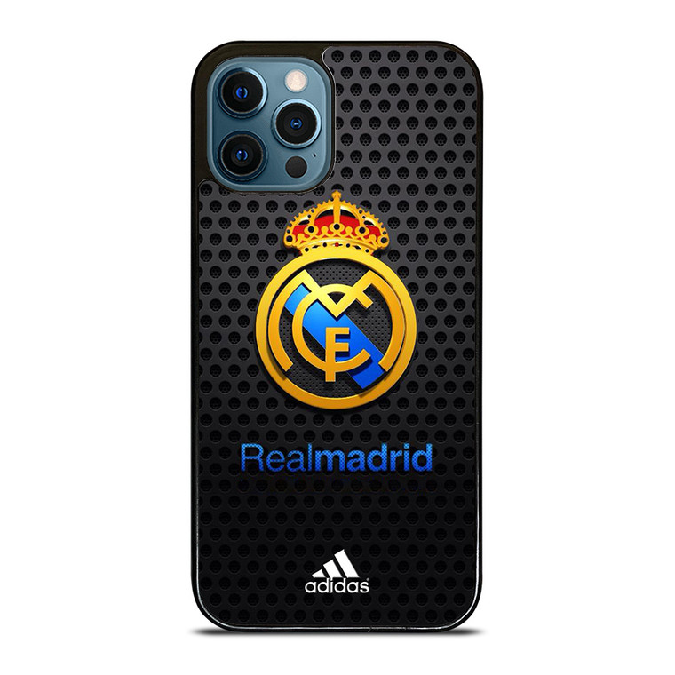 REAL MADRID FC METAL LOGO iPhone 12 Pro Case Cover