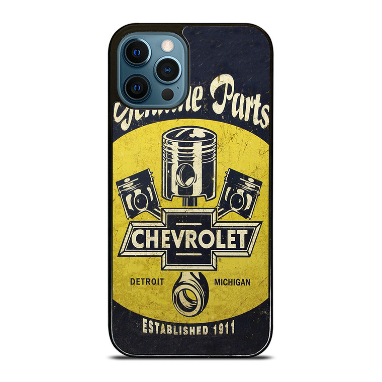 RETRO POSTER CHEVY CHEVROLET iPhone 12 Pro Case Cover