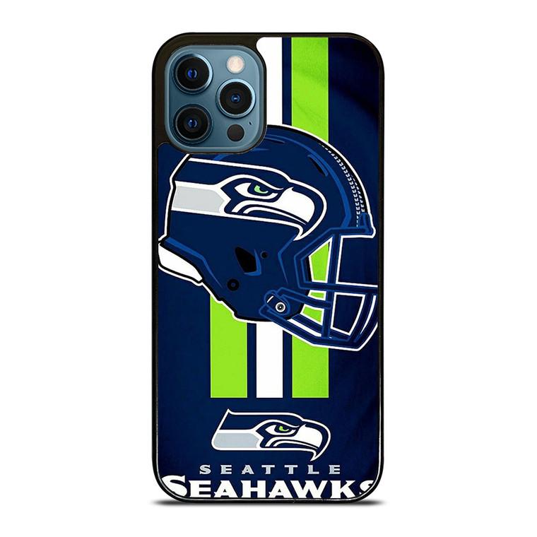 SEATTLE SEAHAWKS LOGO HELMET iPhone 12 Pro Case Cover