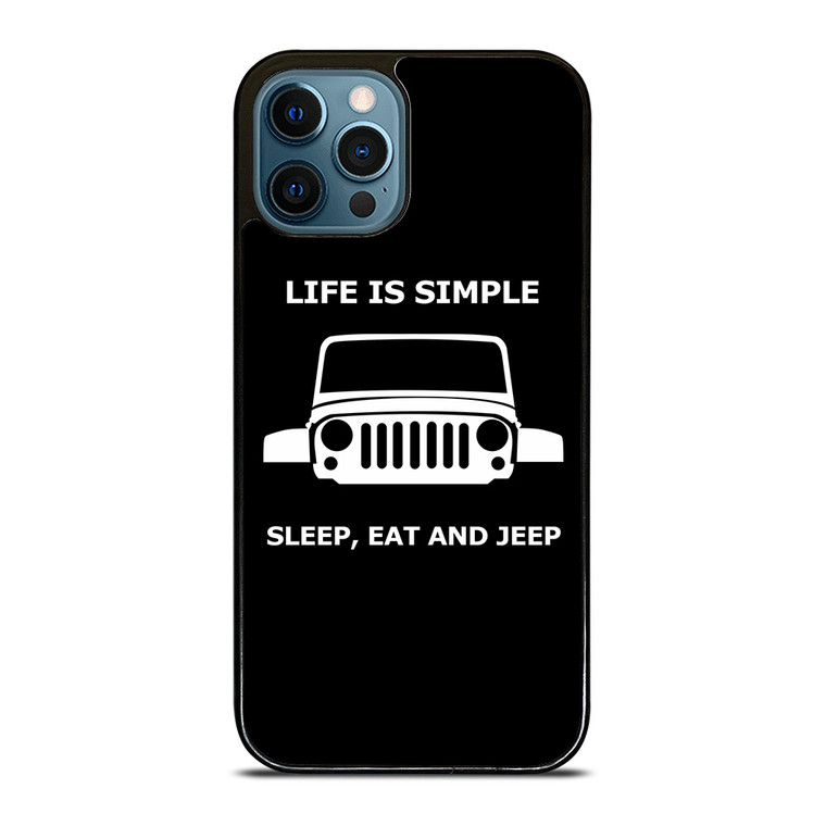 SLEEP EAT AND JEEP iPhone 12 Pro Case Cover