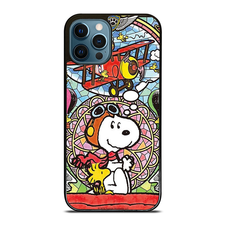 SNOOPY GLASS ART iPhone 12 Pro Case Cover