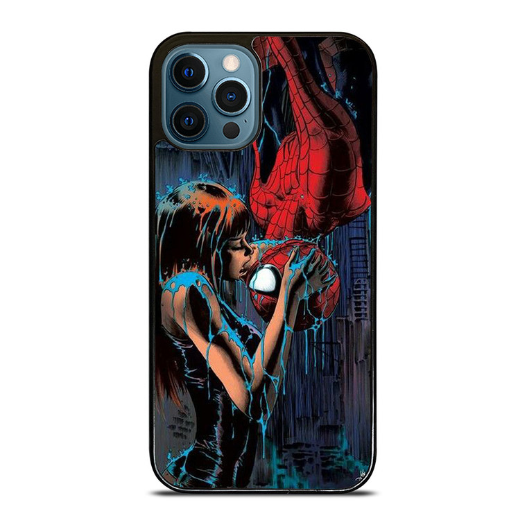 SPIDERMAN MARY JANE KISSING iPhone 12 Pro Case Cover