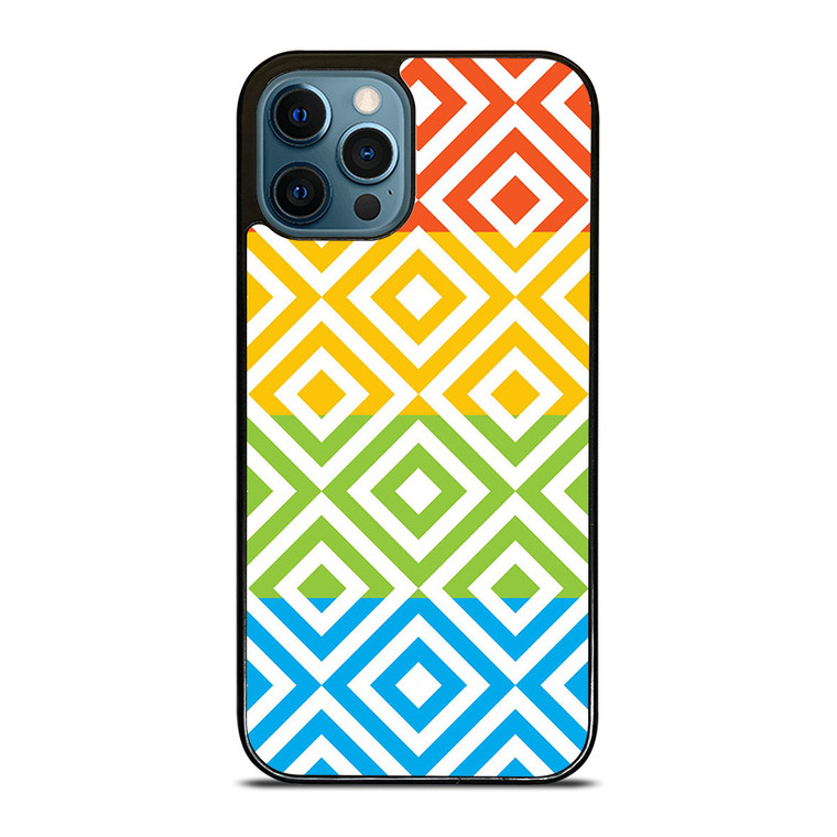 SQUARE PATTERN iPhone 12 Pro Case Cover