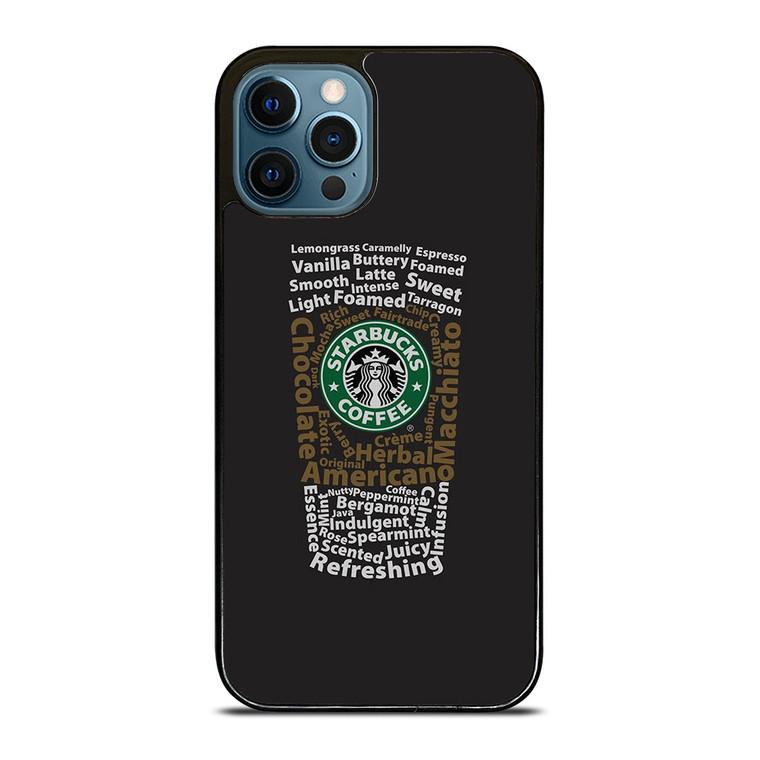 STARBUCKS COFFEE ART TYPOGRAPHY iPhone 12 Pro Case Cover