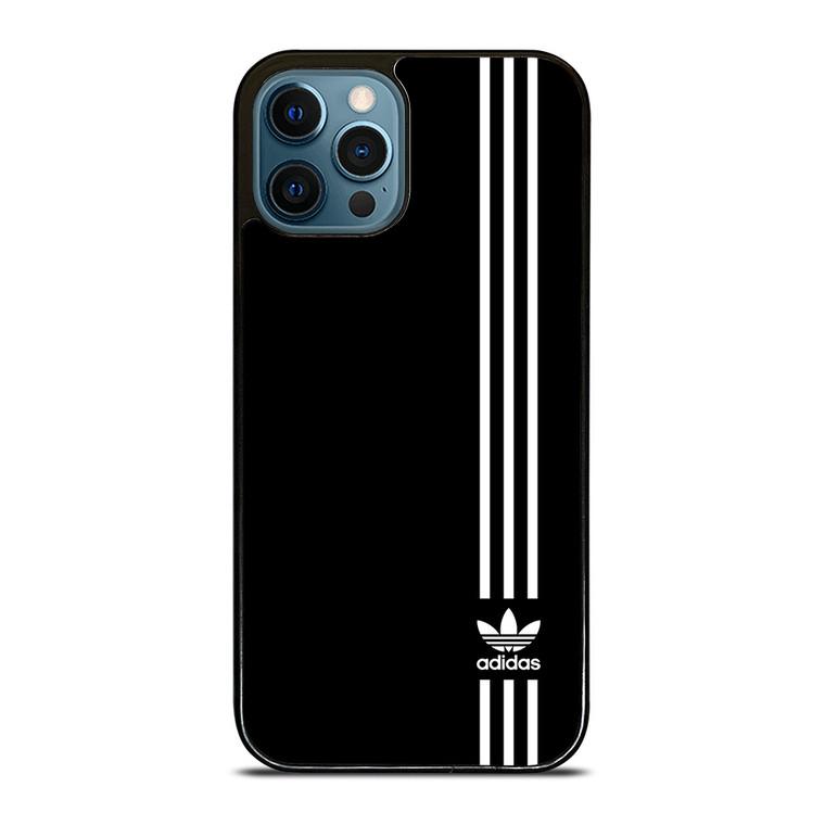 SUPERB ADIDAS LOGO BLACK iPhone 12 Pro Case Cover