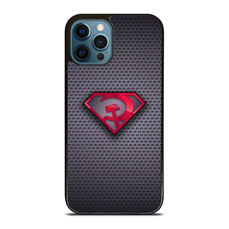 SUPERMAN RED SON LOGO CARBON iPhone 12 Pro Case Cover