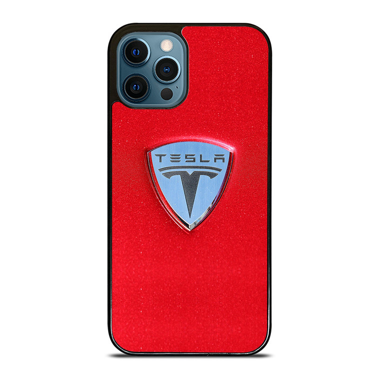 TESLA MOTOR LOGO iPhone 12 Pro Case Cover