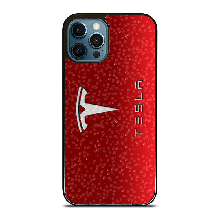 TESLA MOTORS SYMBOL iPhone 12 Pro Case Cover