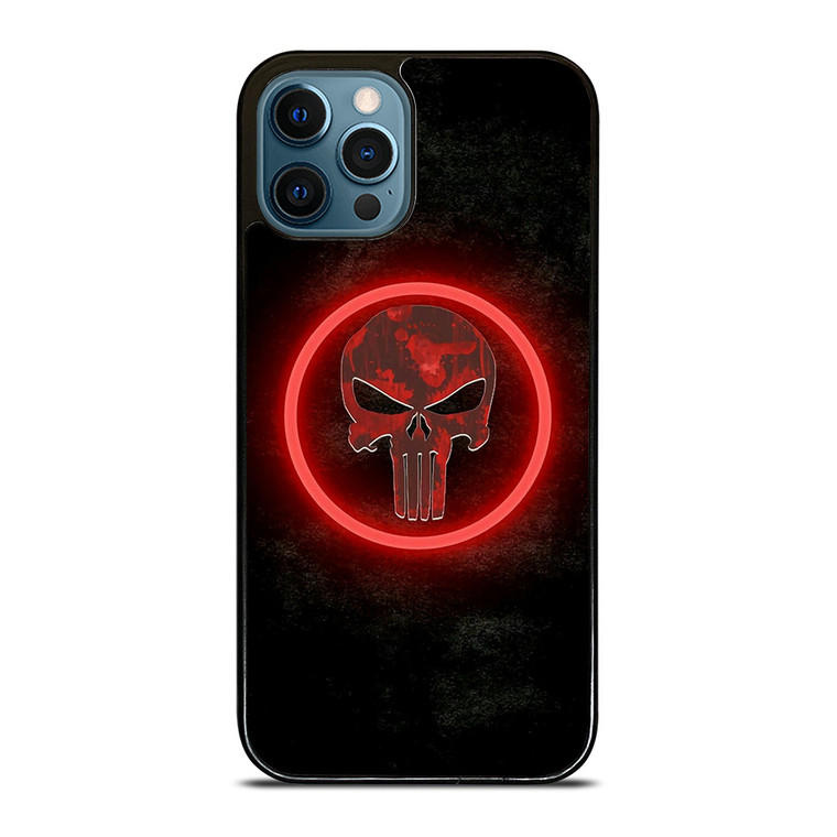 THE PUNISHER SKULL RED GLOW iPhone 12 Pro Case Cover