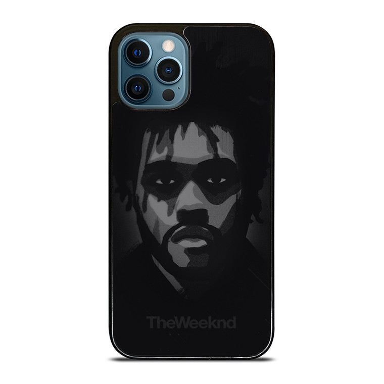 THE WEEKND FACE WHITE BLACK iPhone 12 Pro Case Cover