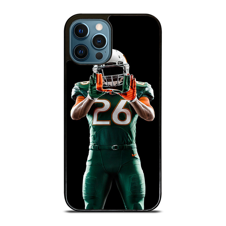 UM MIAMI HURRICANES FOOTBALL iPhone 12 Pro Case Cover