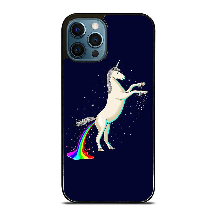 UNICORN POOPING RAINBOW iPhone 12 Pro Case Cover