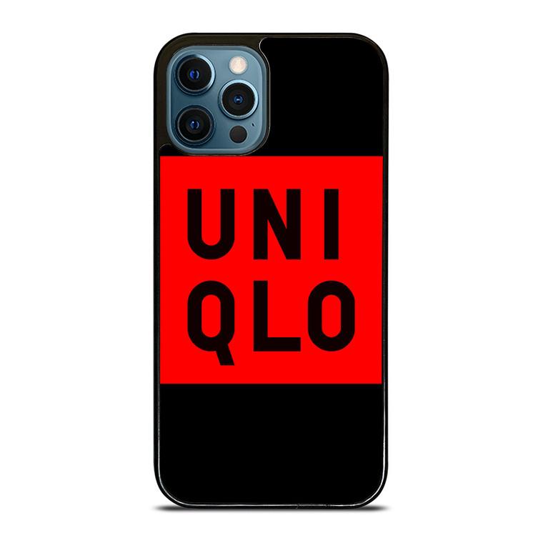 UNIQLO LOGO RED BLACK iPhone 12 Pro Case Cover