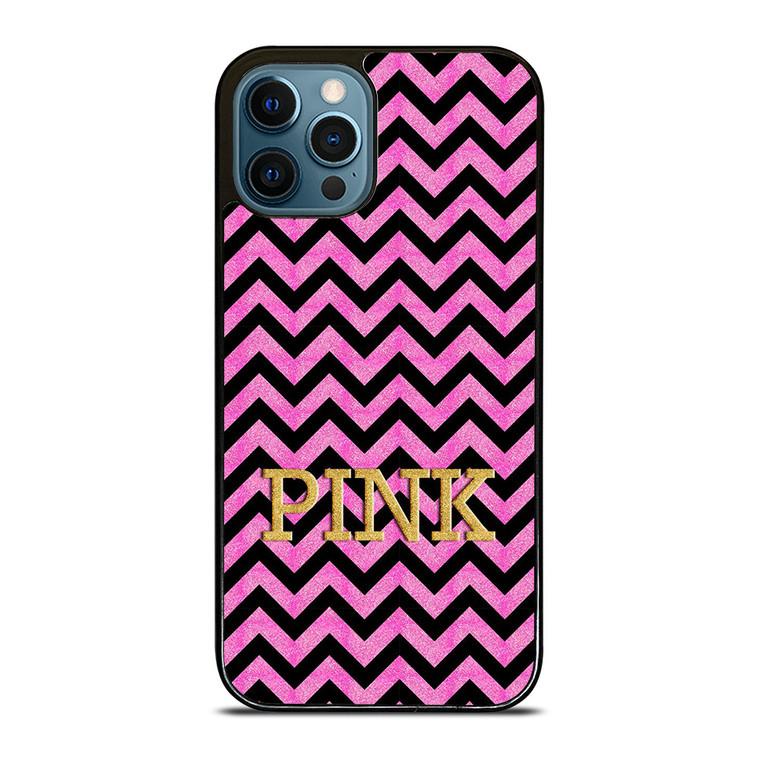 VICTORIA'S SECRET PINK CHEVRON iPhone 12 Pro Case Cover