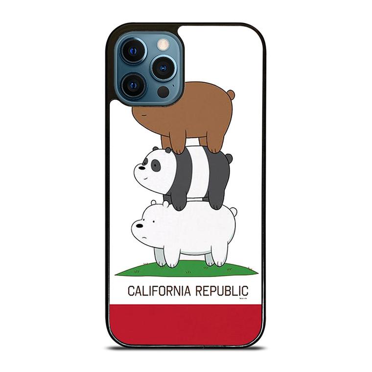 WE BARE BEARS CALIFORNIA REPUBLIC iPhone 12 Pro Case Cover