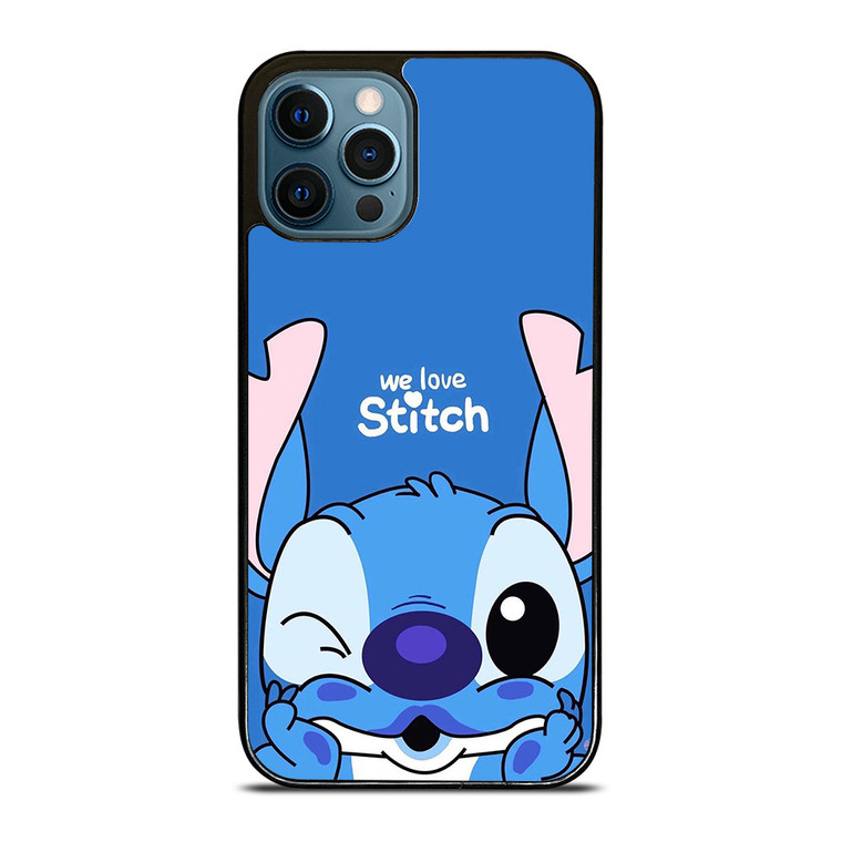 WE LOVE STITCH AND LILO CARTOON iPhone 12 Pro Case Cover