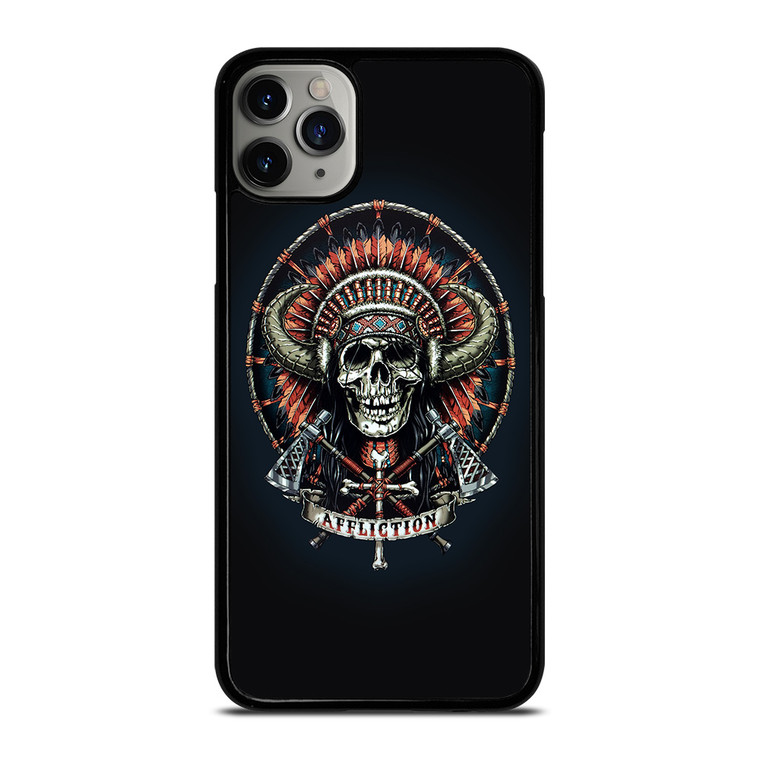AFFLICTION INDIAN SKULL iPhone 11 Pro Max Case Cover