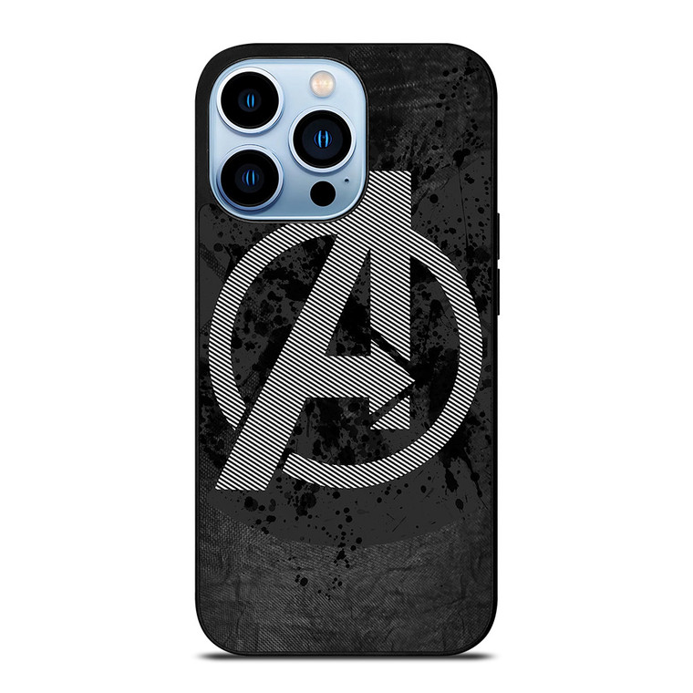 AVENGERS LOGO GRAY iPhone 13 Pro Max Case Cover