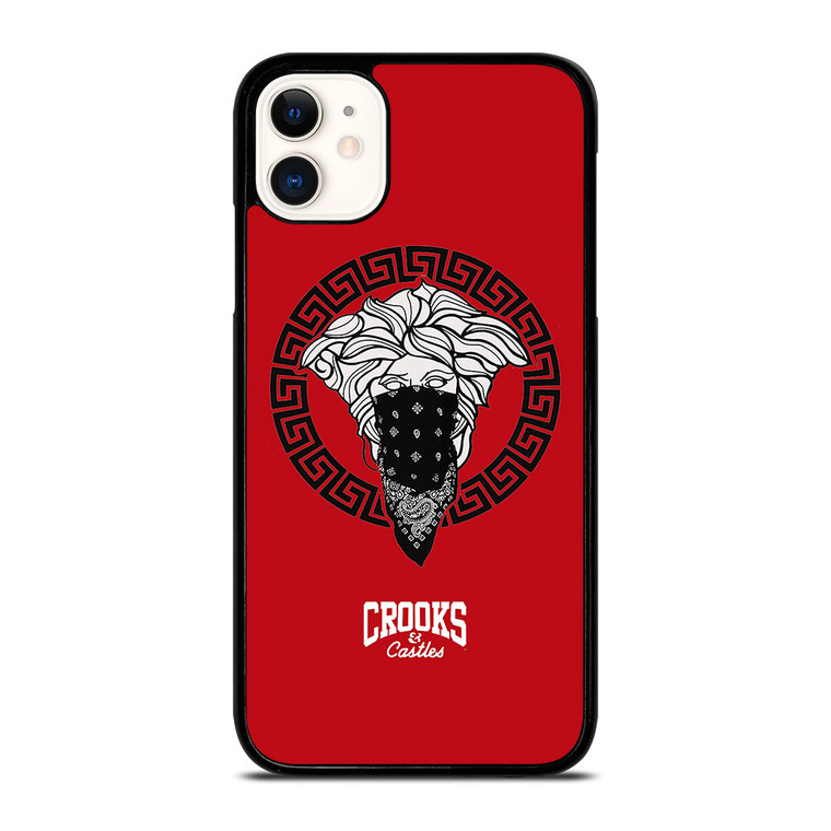 CROOK AND CASTLES BANDANA RED iPhone 11 Case Cover