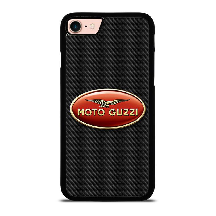 MOTO GUZZI LOGO CARBON iPhone 8 Case Cover