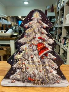 Christmas Tree Farmhouse Biscuit Tin