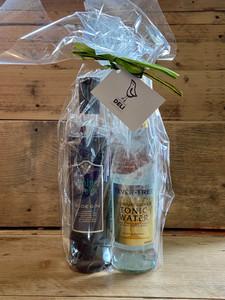 Sloe Gin & Tonic Gift Set: Juniper Green Organic Sloe Gin, Fever-Tree tonic water, Mr. Filbert's nuts