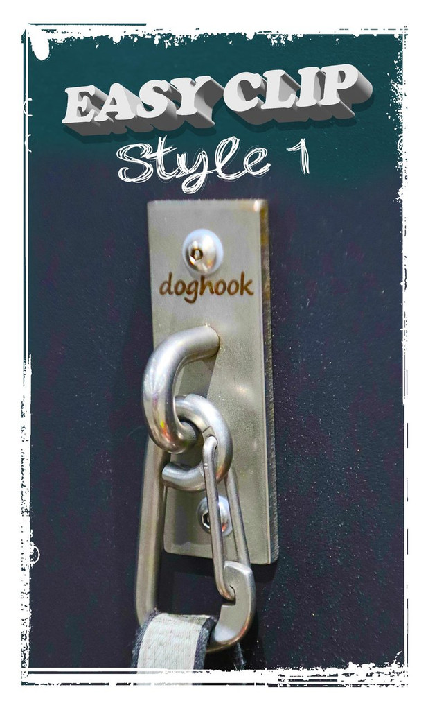 EASY CLIP Style 1 - Stainless with Wood Hardware Kit