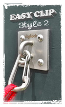 EASY CLIP Style 2 - Stainless with Wood Hardware Kit