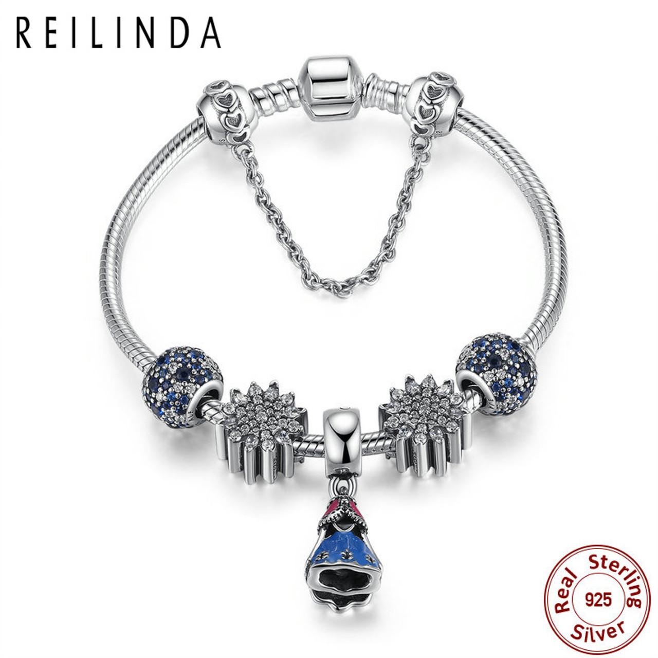6f5bb710d835a Snake chain crystal stone charms bracelet sterling silver bangle bracelets  PSB005
