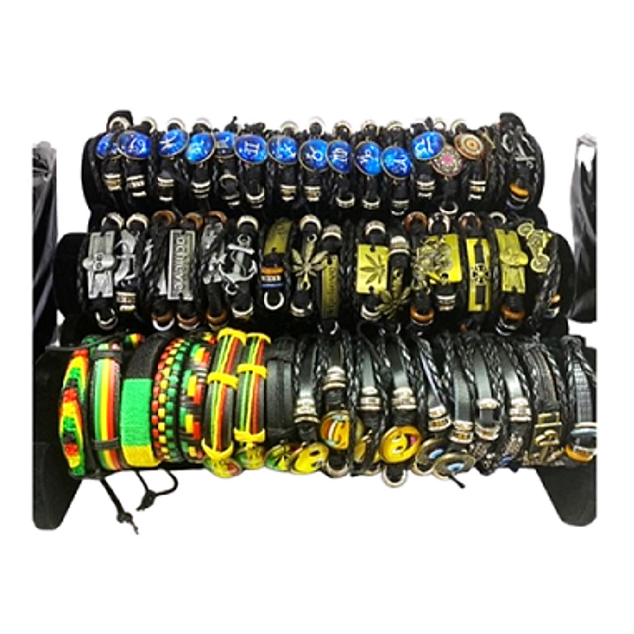 Leather Bracelet Display 54ct.
