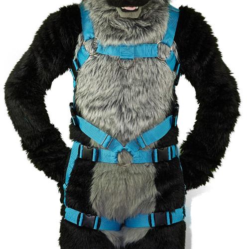 Full Bulldog Harness with Leg-Straps (Detachable)
