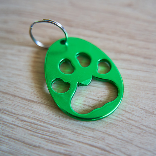 Paw Print Bottle Opener (Green)
