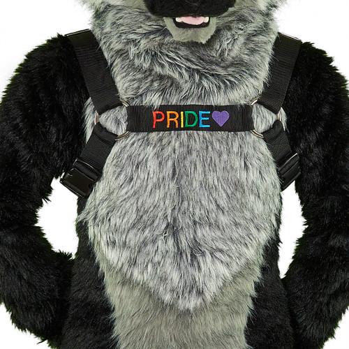 Bulldog Harness with Custom Embroidery