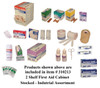 First Aid Kit (Cabinet) – Stocked – Industrial/Mechanical Product Fill – 2 Shelf with Pockets