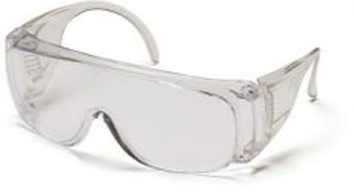 Lightweight and economical. Lenses provide 99.9% protection against harmful UV rays. Temples are vented to reduce fogging.