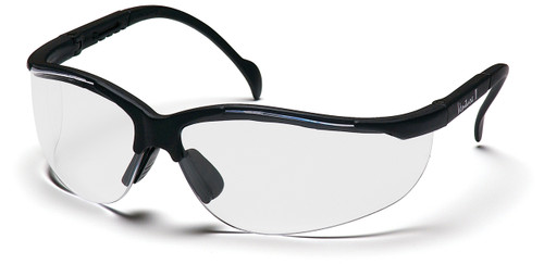 Exceeds ANSI Z87.1 High Impact Requirements; *CE EN166; *CSA Z94.3-07;MIL-PRF 32432 VENTURE II FEATURES      9.75 base curved lens provides full side protection without distracting seams or traditional type side shields, provides 99.9%  protection against harmful UV rays.     Temples adjust to four different lengths     Lenses coated for superior scratch resistance     Nose buds secure the glass and prevent slipping while providing a pillow soft fit.