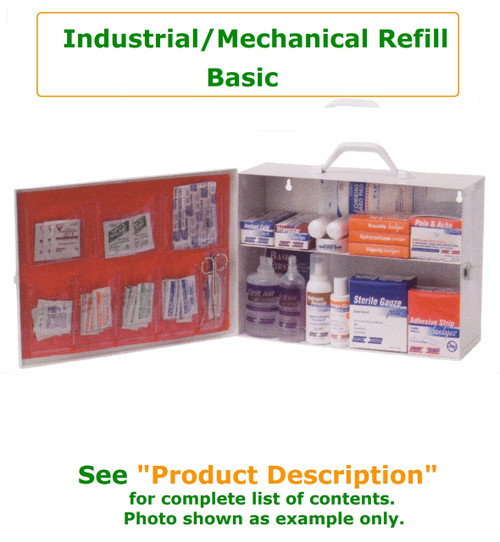 Industrial Refill Bundle - Basic Refill bundle includes contents only.  No metal cabinet is included.