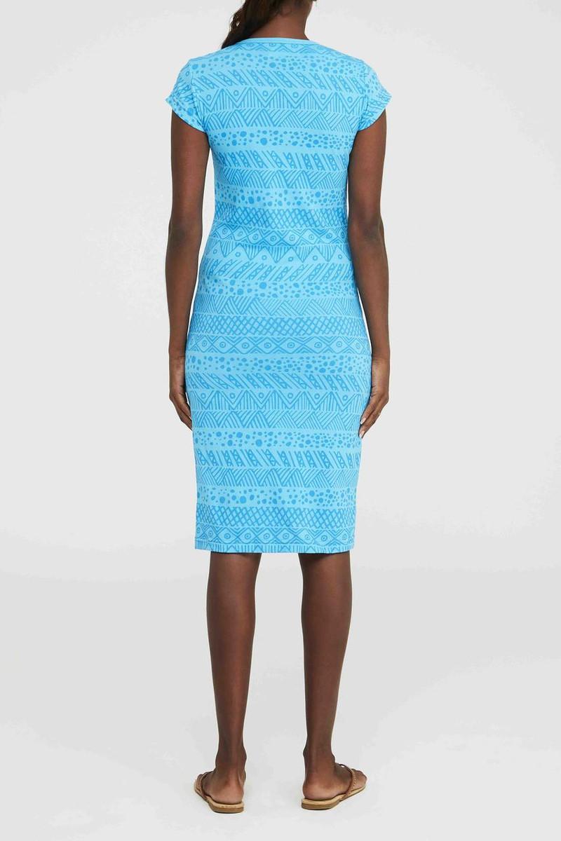 Cap Sleeve Dress - Irrimaru Blue