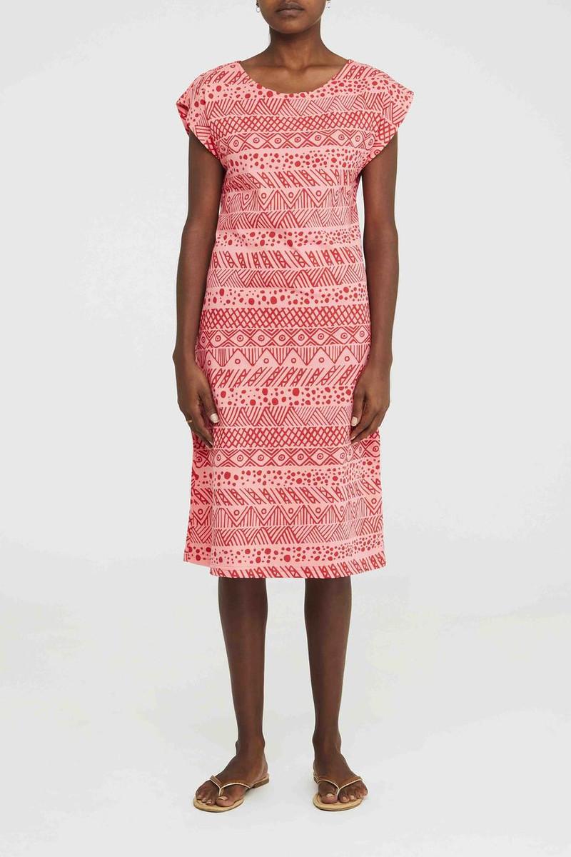 Box Dress - Irrimaru Red Pink