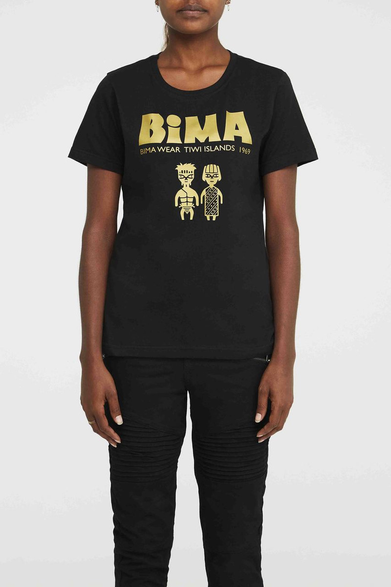 Logo Tee - Gold Black