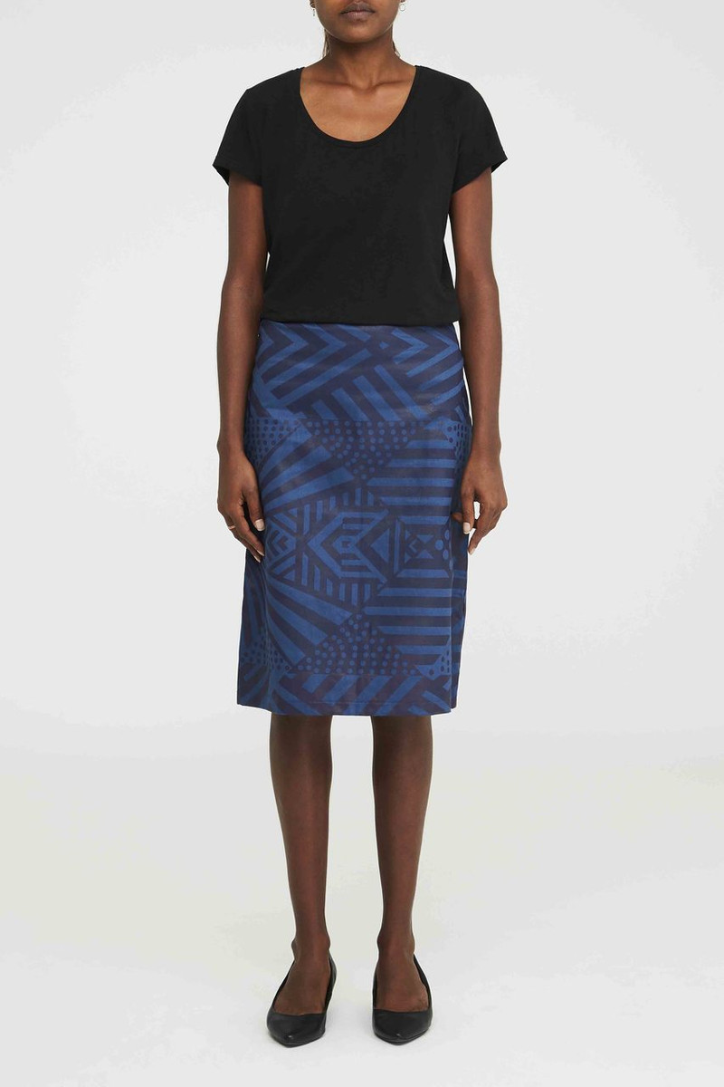Fitted Skirt - Tunga Blue