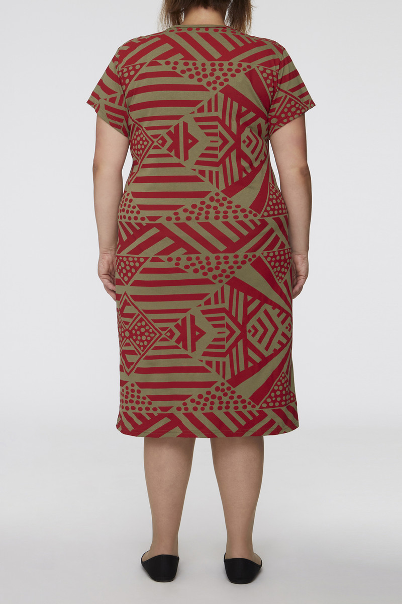 Tee Sleeve Dress - Tunga Red Khaki