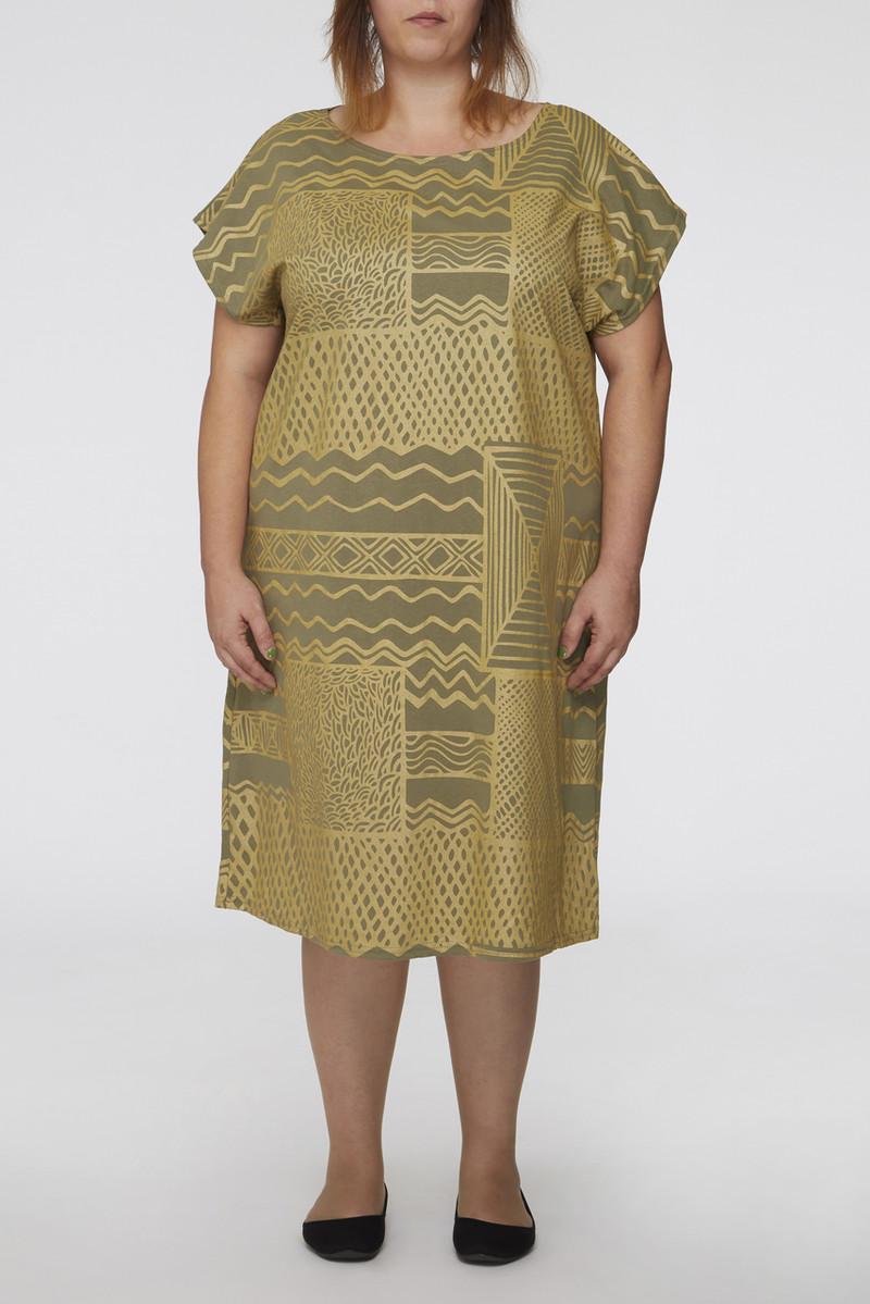Box Dress - Turtini Gold Khaki