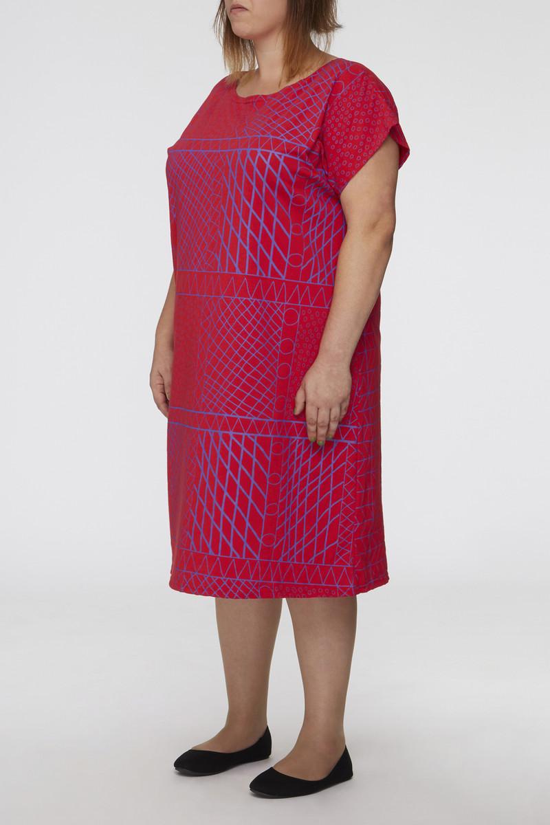 Box Dress - Yirrikipayi Purple Red