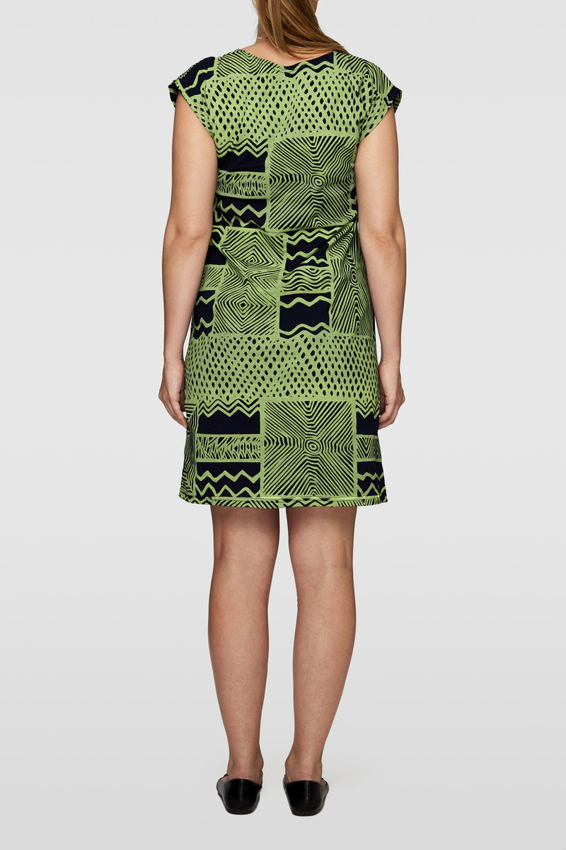 Box Dress - Turtini Light Green Navy