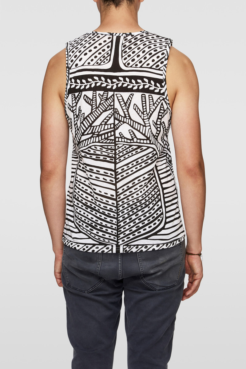 Unisex Singlet - Tree of Life Black White