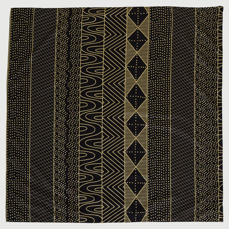 Bima Wear Silk Scarf - Jilamara Black Gold