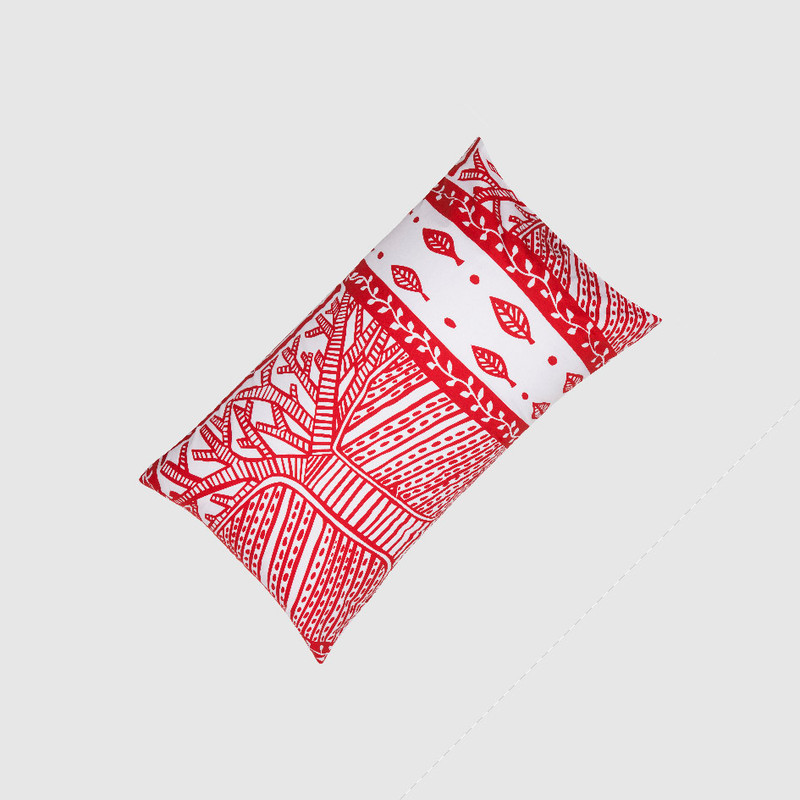 Pillowcase - Tree of Life in Red