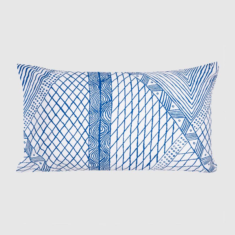 Pillowcase Jilamara Blue on White