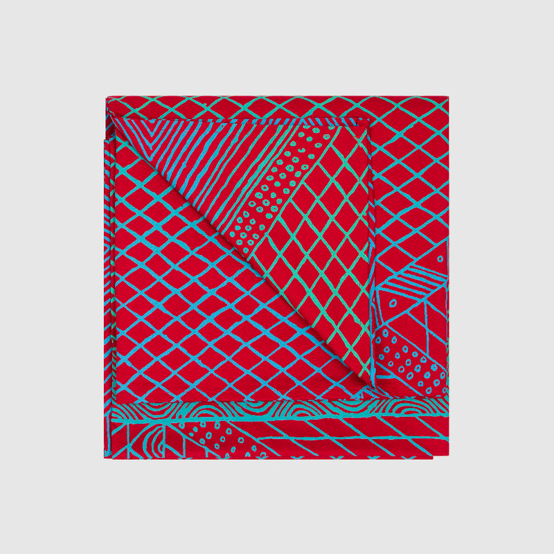 Tablecloth Large Rectangle Body Paint Red